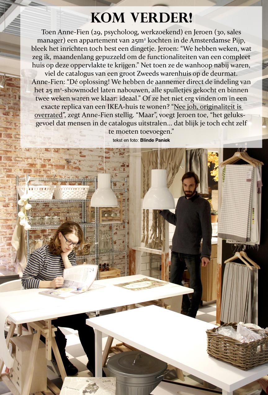 Kom Verder Anne-Fien Jeroen replica Ikea showroom