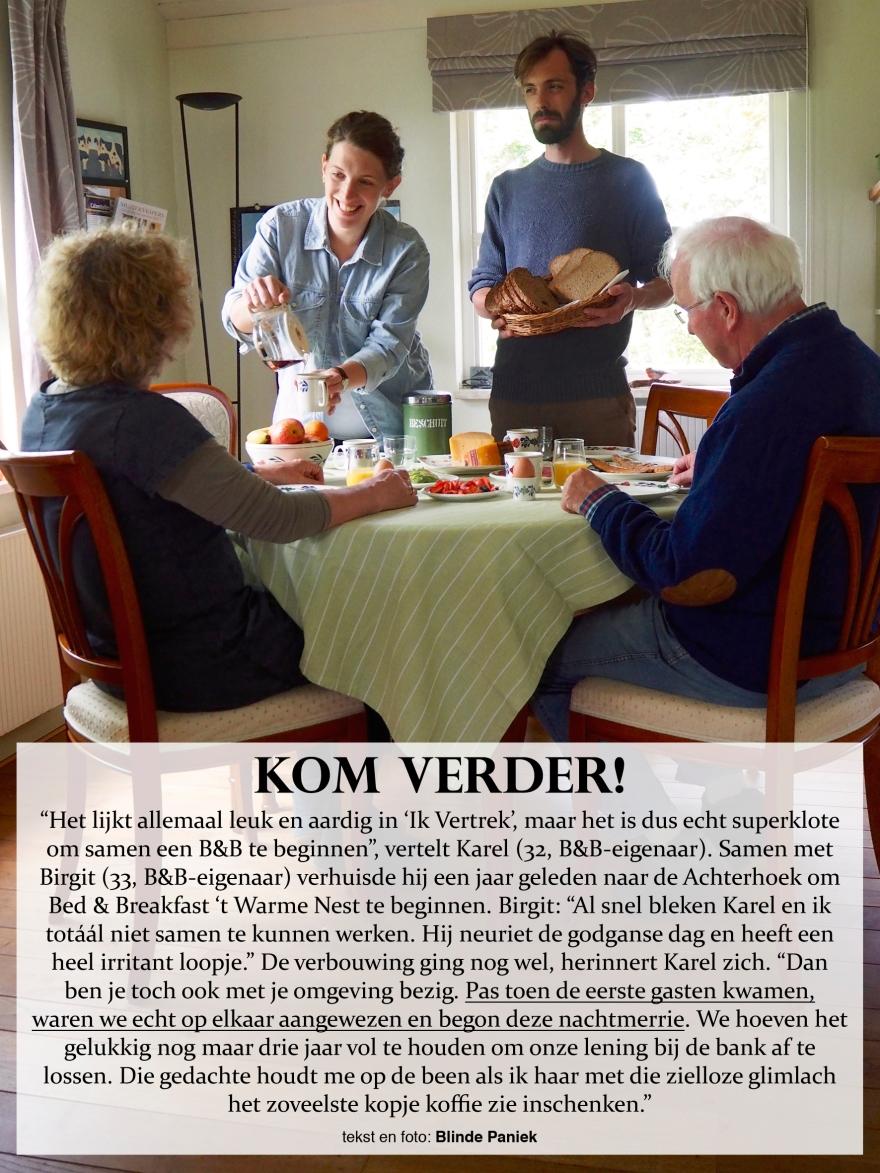 Kom Verder Karel en Birgit Bed&Breakfast Ik vertrek nachtmerrie