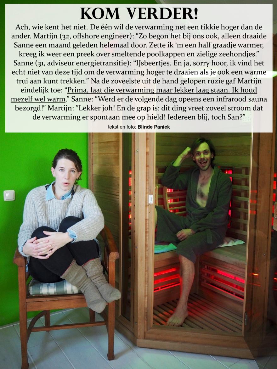 Kom Verder! Martijn en Sanne ruzie over de thermostaat infrarood sauna